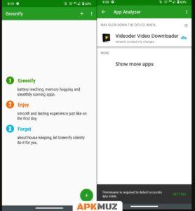 Greenify app screens