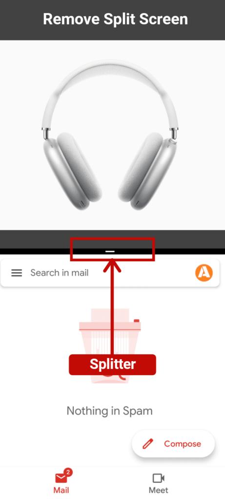 Remove split screen android