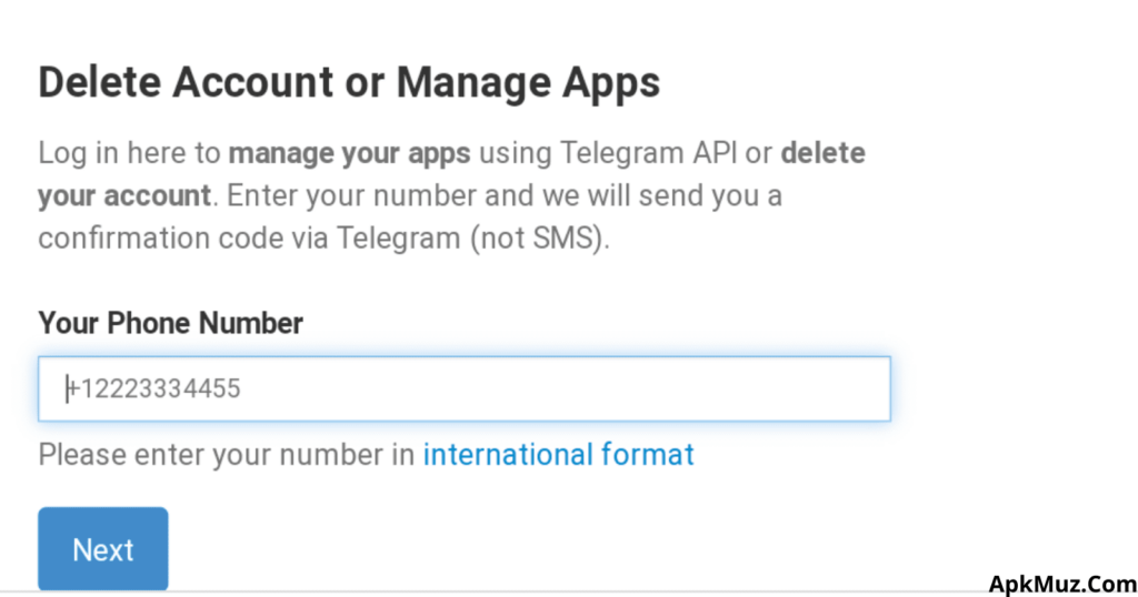 delete telegram account permanently